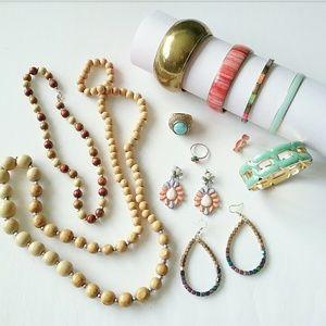 Jewelry - 12pc Jewelry Bundle Boho Rings Bracelets Necklace